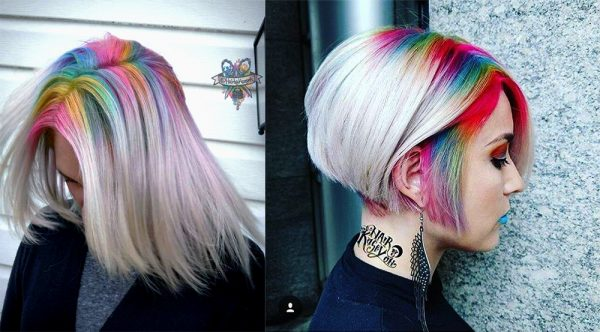 Rainbow roots? A way to refresh every hair style!